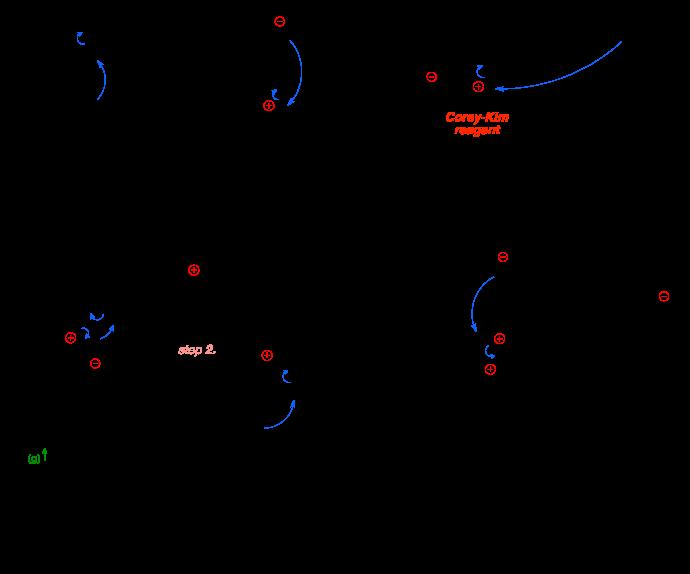 Mechanism of the Corey-Kim oxidation.