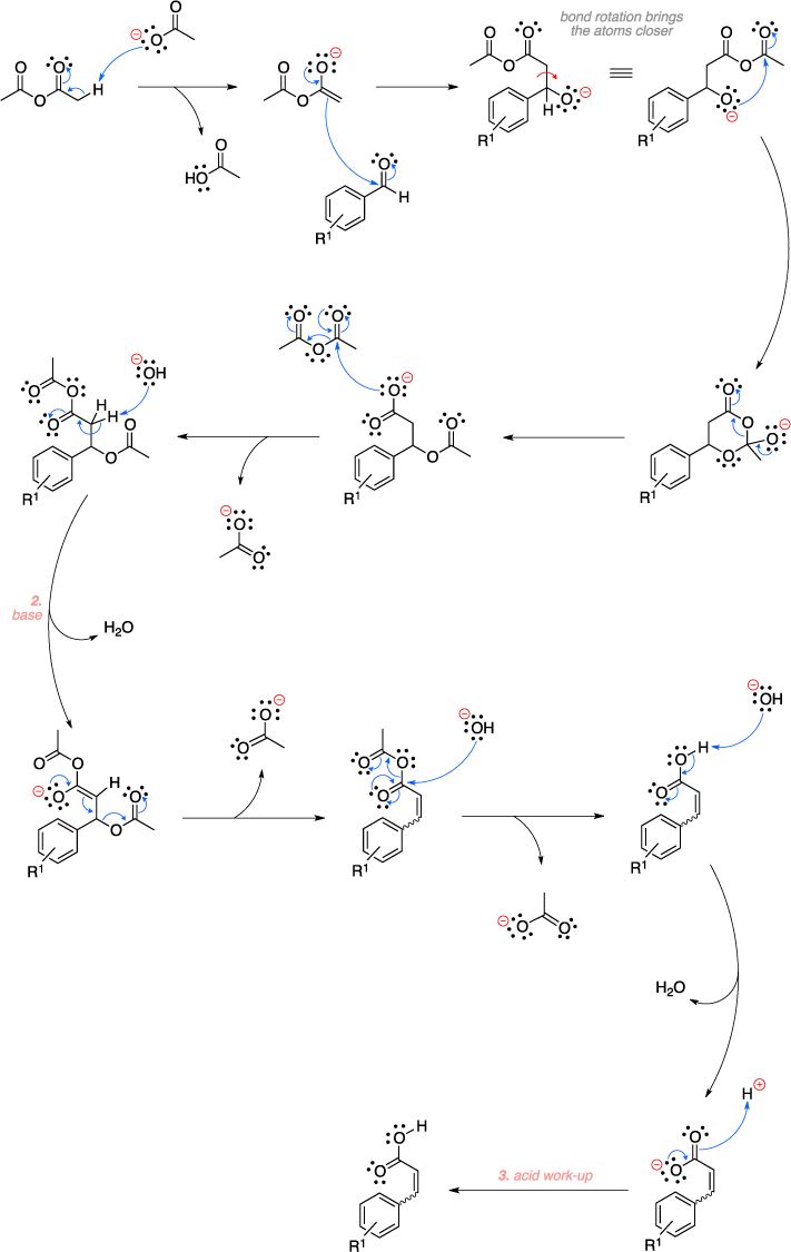 Mechanism of the Perkin reaction.
