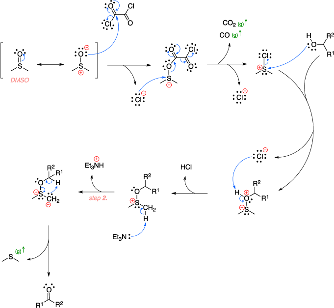 Mechanism of the Swern oxidation.