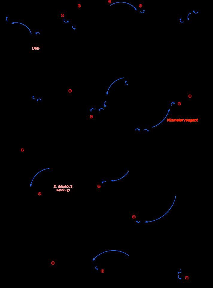 Mechanism of the Vilsmeier-Haack reaction. Vilsmeier reagent.
